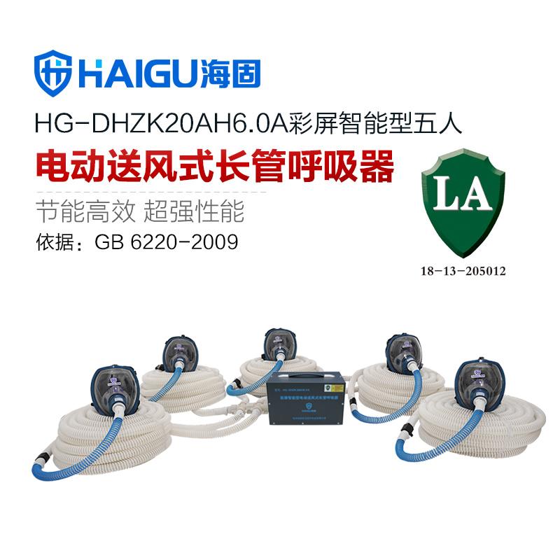 正品 海固HG-DHZK20AH6.0A型 全面罩 5人彩屏智能电动