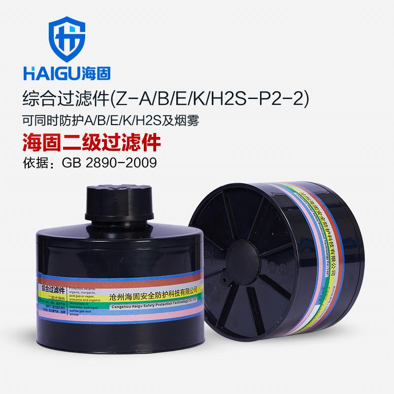 海固综合滤毒罐 Z-A/B/E/K/H2S-P2-2 有效吸附有机无机酸性气体