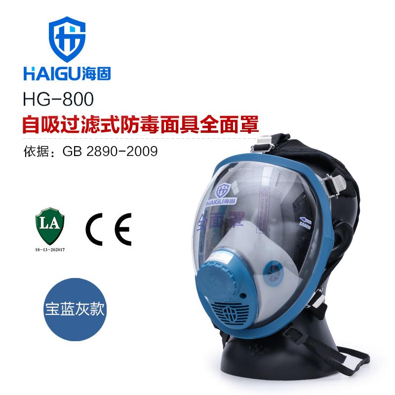 海固800全面罩+二级 滤毒罐 防毒面具套装