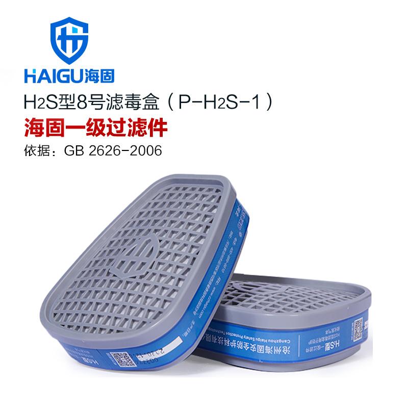 海固HG-ABS-H2S型8号滤毒盒 P-H2S-1硫化氢滤毒盒